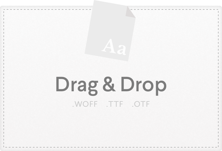 Drag & drop files here